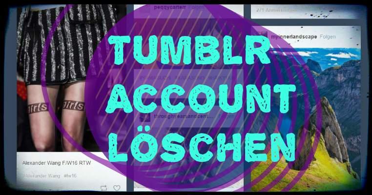 Deleting Tumblr account