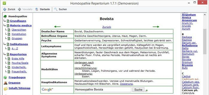 Homeopathie Repertory Download Beschrijving