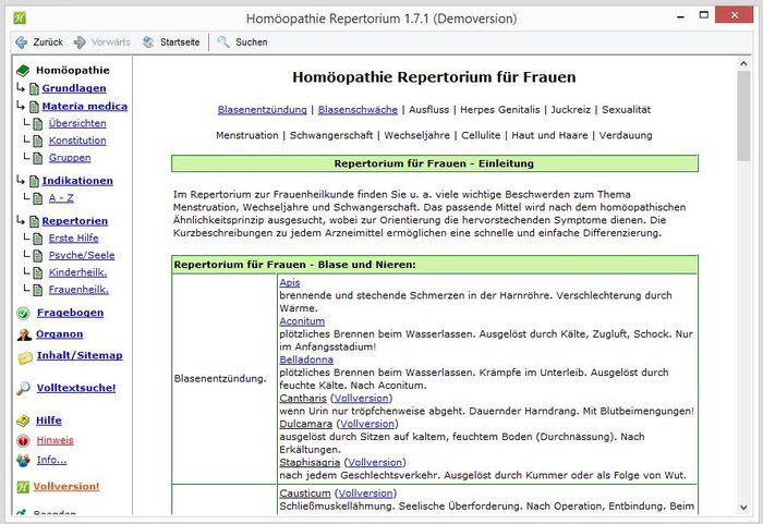 Homeopathie Repertory Download Vrouwen