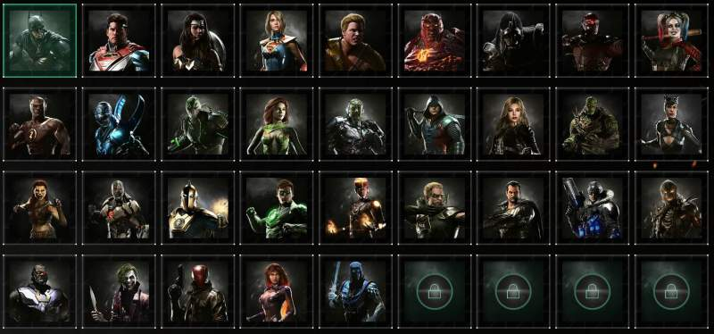 Injustice 2 Characters Overview