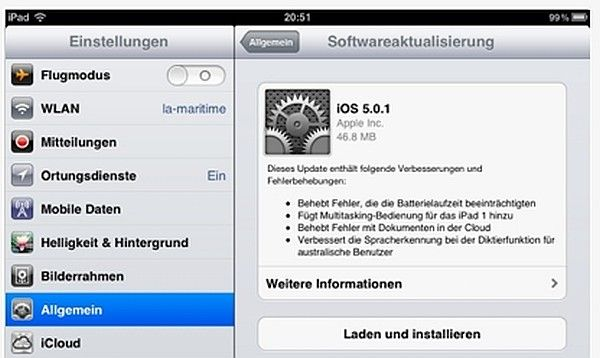 iOS 5 Download Updates