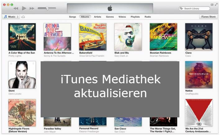 Update iTunes library