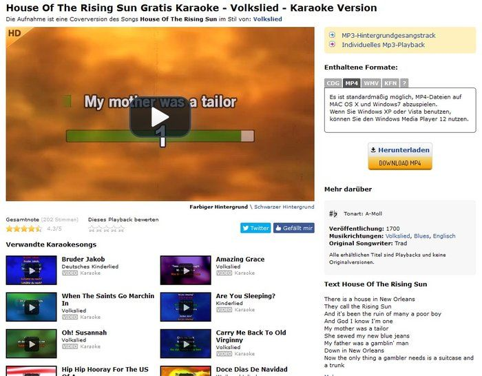 Karaoke Version Download Classics