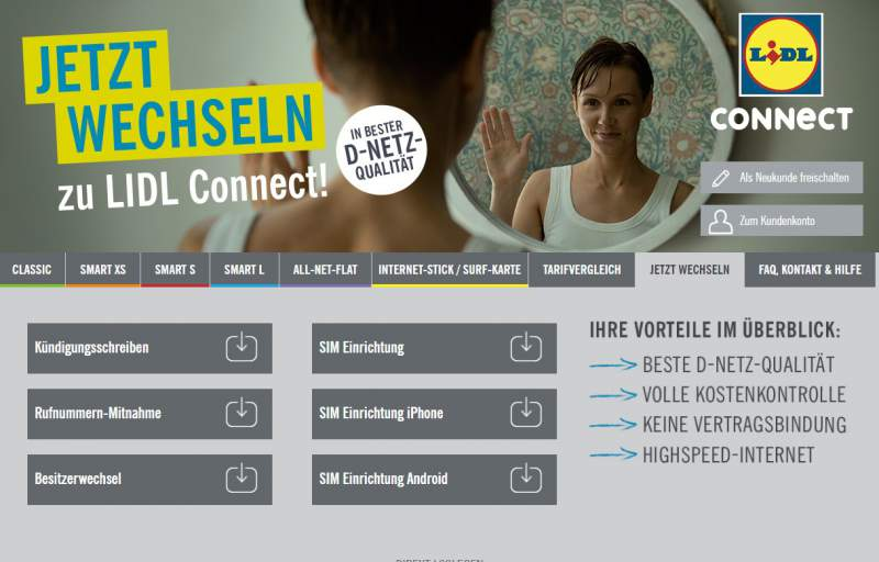Lidl Connect-account nummerportabiliteit