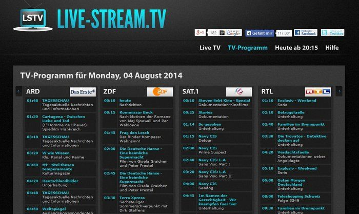 Live Stream TV program preview