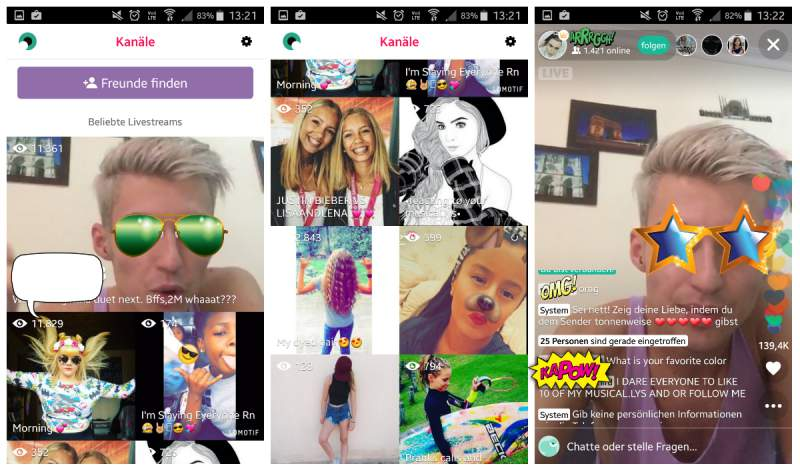 See App live.ly other streams