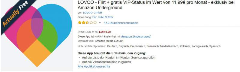 amazon underground lovoo
