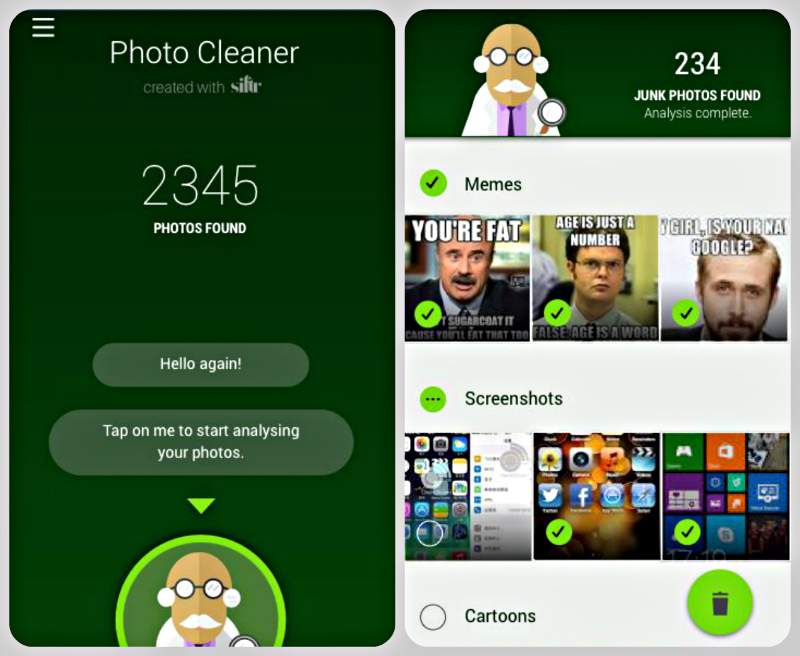 Cleaner mágica para WhatsApp APK Categorias