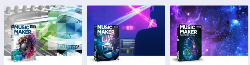 MAGIX Music Maker download versions
