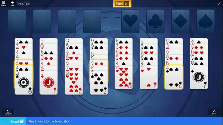 Solitaire Windows 10 App Freecell