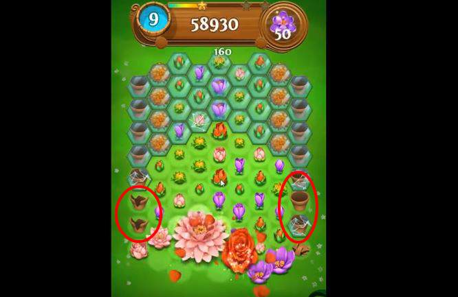 Blossom Blast Saga Cheats potten