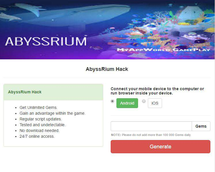 AbyssRium Cheat