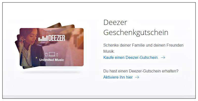 Buy Deezer voucher
