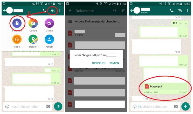 WhatsApp Send PDF