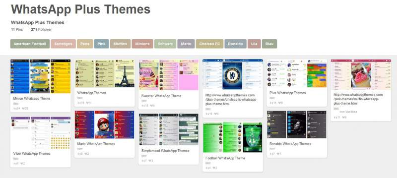 WhatsApp Plus Themes selection