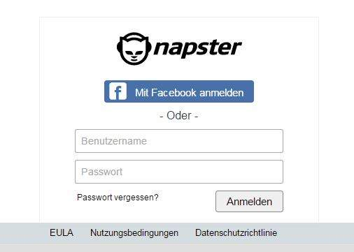 Napster kondigen Account Management