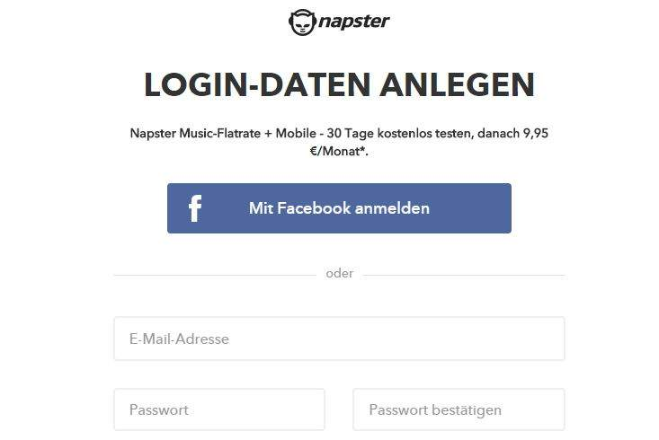 Napster accesso Website
