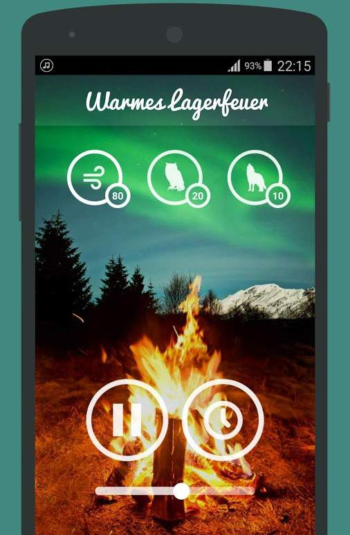 Nature sounds app campfire