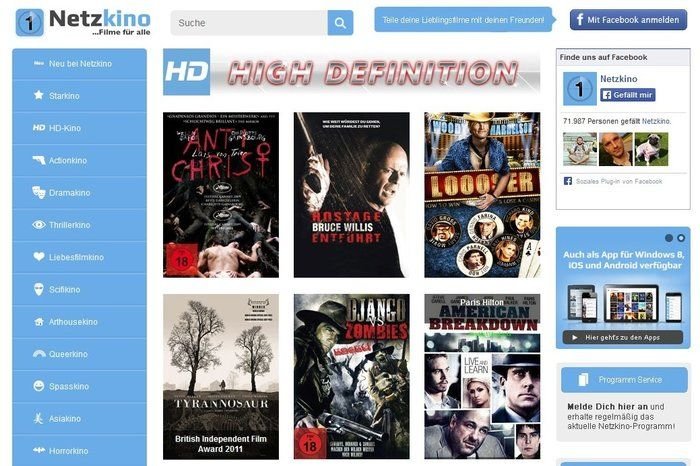 Rede de download de filmes HD