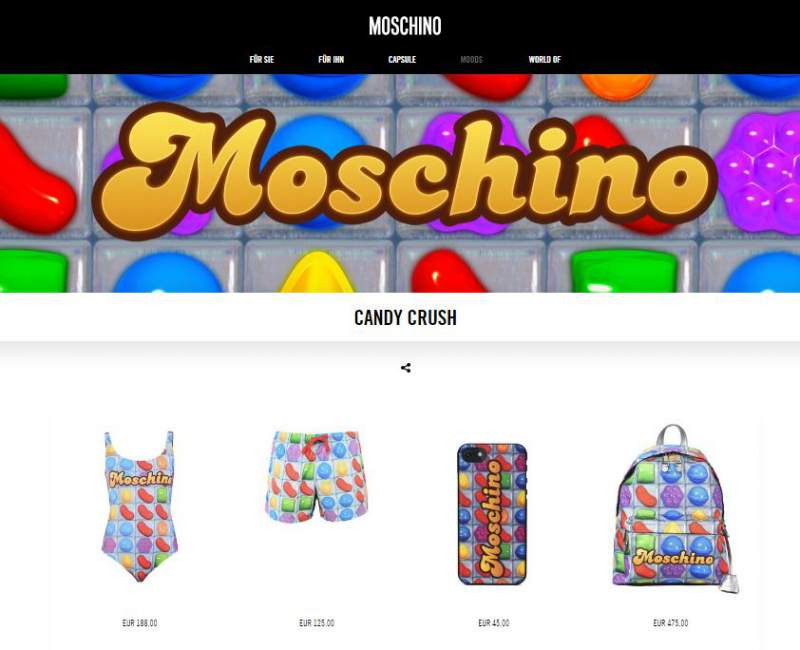 Candy Crush Saga update Moschino