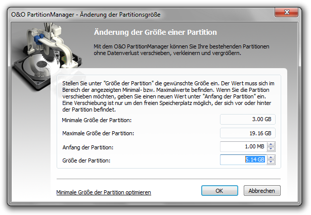 O & O Partition Manager Professional Download Operation