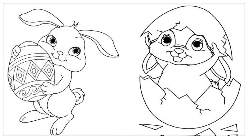 Coloriage Easter Bunny télécharger