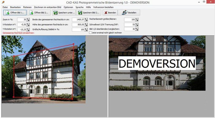 Photogrammetric image rectification Download House