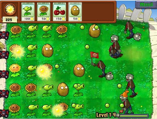 with plants against zombies in plants vs zombies