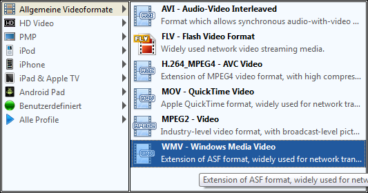 PowerPoint Video Converter formats