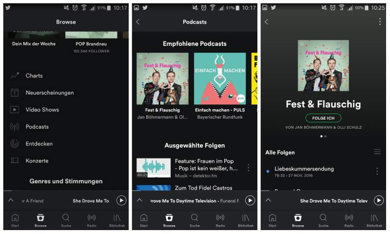 Spotify podcasts on the PC to hear find podcasts