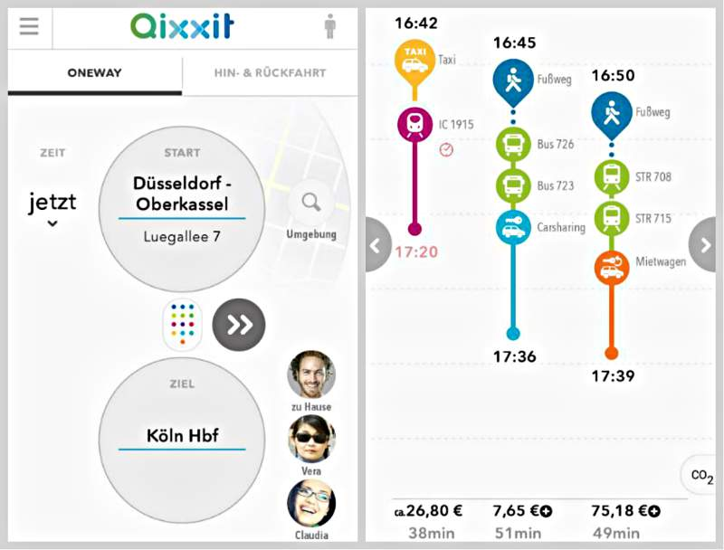 Planification Qixxit App