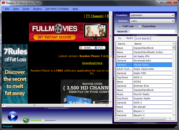 TV Movie Radio Player Download