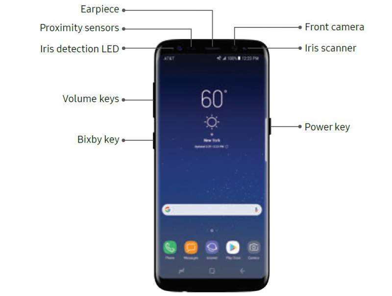 Samsung Galaxy S8 design Download Manuale