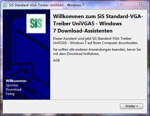 SiS standard VGA driver download