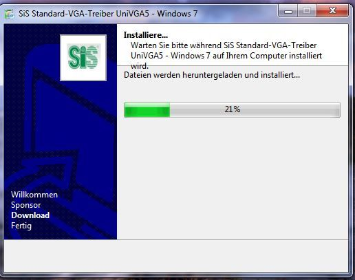 SiS standard VGA driver download installation