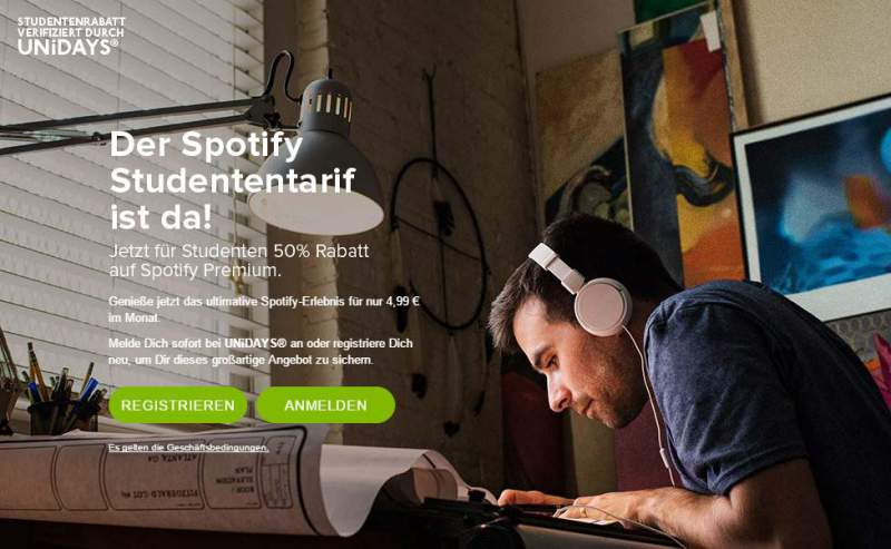 Spotify voucher student discount