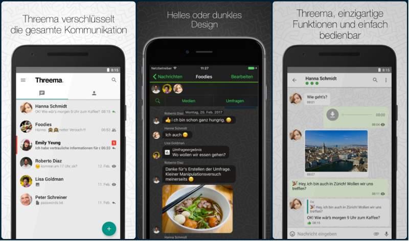 Resultado de imagen para Threema app