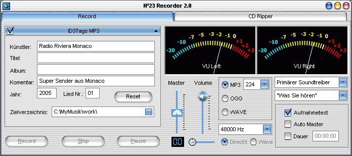 Audio Recorder No23 Recorder