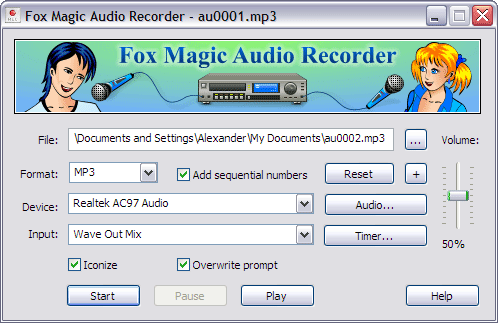 Audio Recorder Fox Magic Audio Recorder