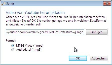 Songr YouTube Downloader
