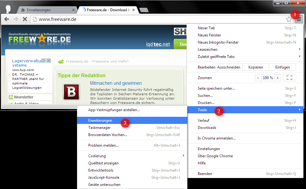 CRX: Installeer Chrome-extensies zonder Web Store Screenshot 1