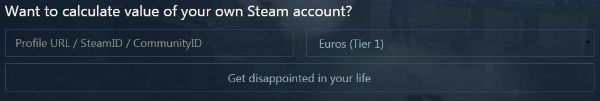 Steam Account Value Calculator
