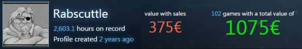 Steam Account Value