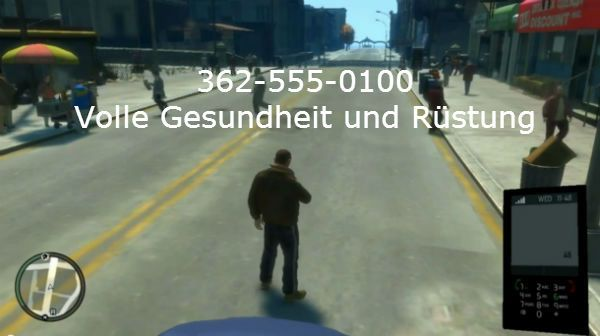 GTA 4 Cheats Full health and armor