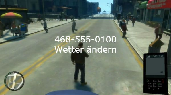 GTA 4 Cheats weather change