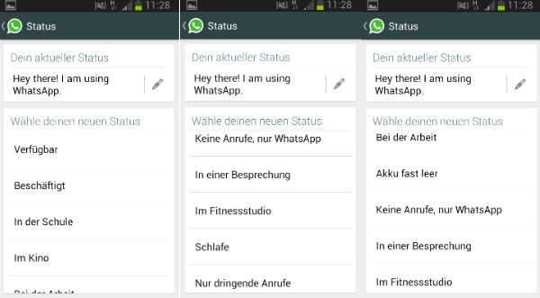 Verander WhatsApp Status Instructions
