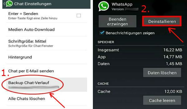 Installeer WhatsApp Plus Backup