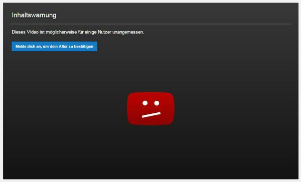 contourner la restriction d'âge YouTube