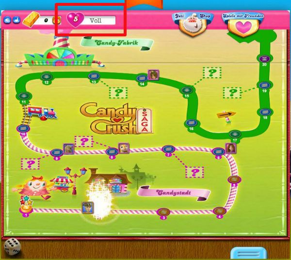 Candy Crush vita infinitamente