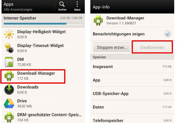 Google Play Store non funziona Download Manager